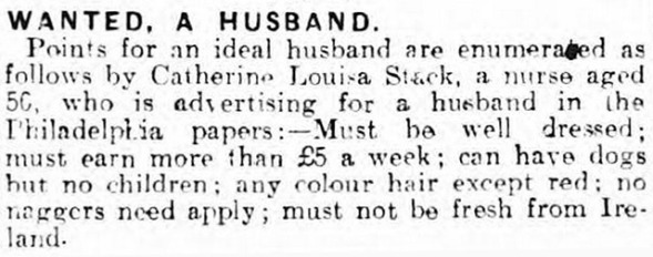 lonely hearts ads _blog.britishnewspaperarchive